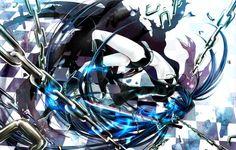 Wallpaper black rock shooter, chain, katana wallpapers anime ...