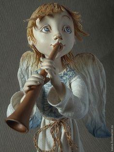 """Купить """"АНГЕЛ-ПАСТУШОК"""" - авторская ручная работа, авторская кукла, подарок на любой случай Angel Art, Ceramic Clay, Christmas Photos, Doll Toys, Art Dolls, Fictional Characters, Carpe Diem, Unicorn, Aesthetics"""