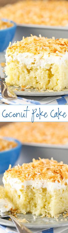Coconut Poke Cake - completely from scratch and easy to make!