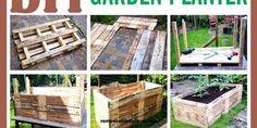 DIY Raised Garden Planter Made From A Wooden Pallet