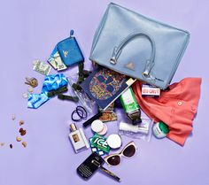 Famke Janssen: Whats In My Bag? - Prada Tote - Ideas of Prada Tote - Famke Janssen carries Dior's Creme de Rose plumping lip balm Illumino Face Oil and a magnifying mirror in her Prada tote. Find out what else she carries! What's In My Purse, Whats In Your Purse, What In My Bag, What's In Your Bag, Purse Essentials, Travel Essentials, Purse Wallet, Coin Purse, Famke Janssen