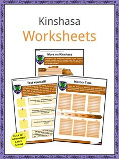 This is a fantastic bundle which includes everything you need to know about the Kinshasa across 22 in-depth pages. These are ready-to-use Kinshasa worksheets that are perfect for teaching students about the capital and largest city of the Democratic Republic of the Congo, Kinshasa which is located near the Congo River. Kinshasa is also the third largest urban area in Africa. Congo Free State, Congo River, Geography Worksheets, First Prime Minister, Assemblies Of God, Geography For Kids, National Stadium, Congo Kinshasa, Republic Of The Congo