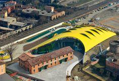 MEF Museo Casa Enzo Ferrari, vista aerea
