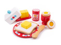 Children's Toy Made from wood Encourages creative and imaginative role play Dimensions: Length x Width x Height Weight: Age Wooden Play Food, Play Shop, Imaginative Play, Pretend Play, Friend Wedding, Party Cakes, Tea Party, Puzzle, Toys