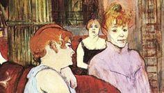Pós-impressionismo: Salon in the Rue des Moulins, de Henri de Toulouse-Lautrec