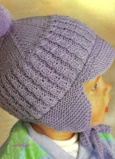 FREE Vintage knitting pattern pdf bonnets and by EstherKateVintage