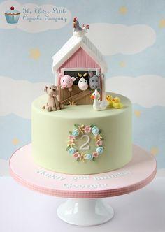 Farm Birthday Cakes, Animal Birthday Cakes, Birthday Cake Girls, Farm Animal Birthday, Birthday Ideas, Petting Zoo Birthday Party, 3rd Birthday, Farm Animal Cakes, Animal Cakes For Kids