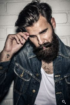 Husband just needs that hair! Love it n he could totally pull it off, love the beard