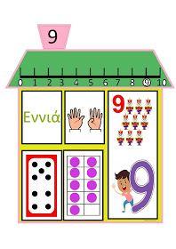 ...Το Νηπιαγωγείο μ' αρέσει πιο πολύ.: Τα σπιτάκια των αριθμών Preschool Curriculum, Preschool Math, Math Activities, Kindergarten, Math For Kids, Writing Skills, First Grade, Fun Learning, Classroom Decor
