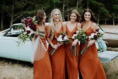 Spaghetti straps bridesmaid dresses,Burnt orange bridesmaid dresses,Beach wedding party bridesmaid from BellaBridal : Perfect Wedding, Our Wedding, Dream Wedding, Rustic Wedding, Spring Wedding, Fall Wedding Shoes, Wedding Rings, Autumn Wedding, Wedding Table