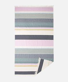 Полотенце в разноцветную полоску - Парео-полотенца - ПЛЯЖНАЯ ОДЕЖДА | Oysho