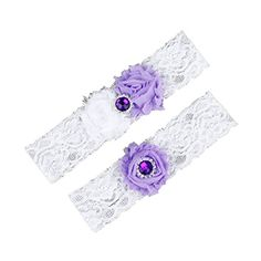 Dreamlan Womens Lace Garters Multi Colors with Crystal Light Purple Dreamlan http://www.amazon.com/dp/B01AHZALB0/ref=cm_sw_r_pi_dp_QsM1wb0KM674K