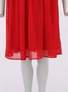 Vero Moda - Červené šaty se špagetovými ramínky  Janas - 1