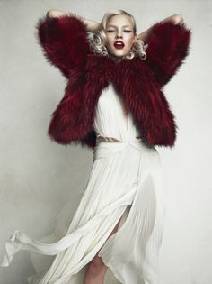 leahcultice:  Ginta Lapina by Norman Jean Roy for Allure Russia December 2013
