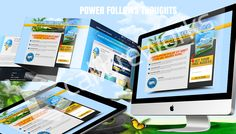 Power Follows Thoughts Squeeze Page, Page Design, Thoughts, Awesome, Ideas
