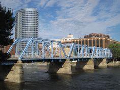 The blue bridge in Grand Rapids, MI.  I got engaged right next to this bridge!