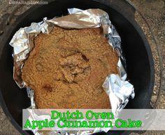 Dutch Oven Apple Cinnamon Cake from DianaRambles.com #camping #recipe #baking @Diana Rambles