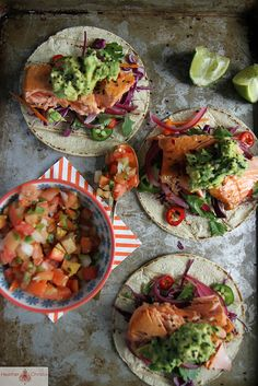 Asian Salmon Tacos by Heather Christo