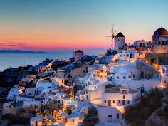 Santorini Island, the city of Oia