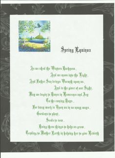 Spring Equinox verse
