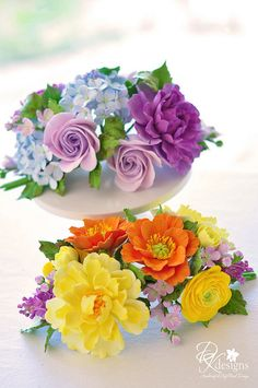 gumpaste bouquet idea  judy1, via Flickr.