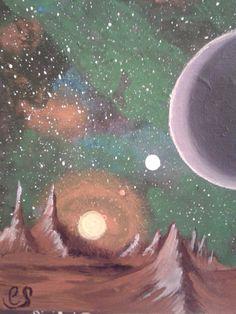 fremder Planet/Acrylmalerei