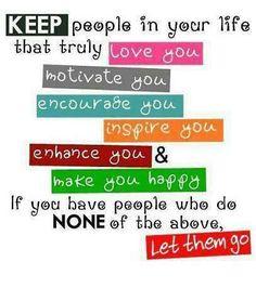Aparta de tu vida todas las personas negativas, rodeate de gente que te motive y ame tus éxitos.