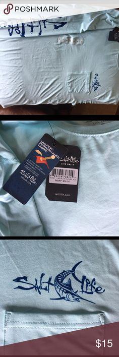 Salt Life tshirt Blue long sleeve shirt. Christmas gift we can't return. Salt Life Shirts Tees - Long Sleeve