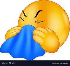 Illustration about Illustration of Cartoon Emoticon smiley coughing. Smiley Emoji, Smiley T Shirt, Sick Emoji, Emoji Love, Good Morning Smiley, Cute Good Morning Quotes, Good Morning Images, Animated Emoticons, Funny Emoticons