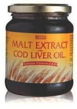 Malt and Cod Liver Oil - Loved it. A spoonful every day to keep us healthy.