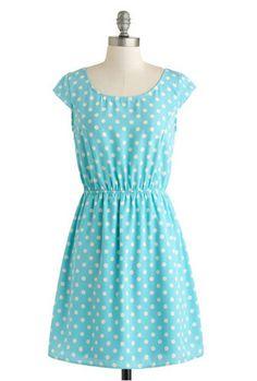 Kate Middleton style - ModCloth True Blue Charmer Dress
