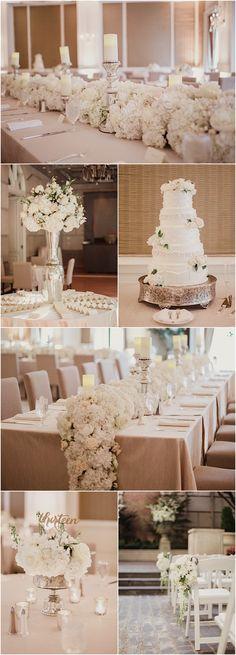 Featured Photographer: Shaun Menary Photography; gorgeous white wedding reception idea