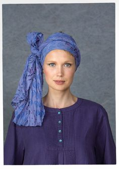 """Myller"" shawl in eco-cotton"