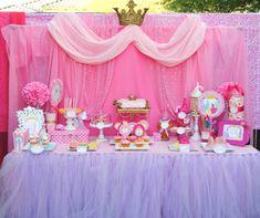 Purple Tulle Skirting Purple Princess Party Girls by PSLetsParty Purple Princess Party, Disney Princess Birthday, Princess Girl, Baby Shower Princess, Girl Birthday, Birthday Parties, Birthday Crowns, Princess Sofia, Princess Theme