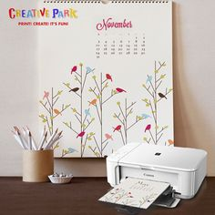 Use #Canon Creative Park to unleash your creativity and make your own calenders and add it to your home! http://www.imagestore.co.in/canon-printers.html
