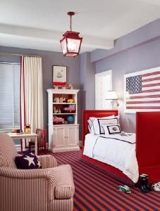 Red White And Blue Chambre Junior Boy Room Paint Rooms