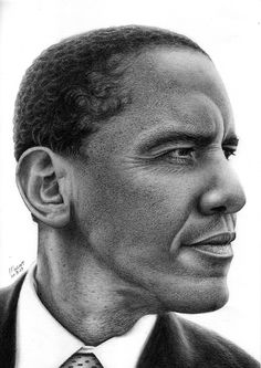 Portrait-Obama by Marcos Jorge Rodrigues
