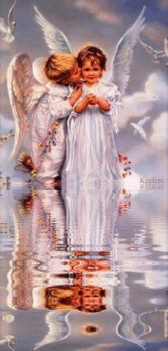 Angels, Reflection, Animated Angels, Animated Graphics, Animated Gifs, Keefers photo Keefers_Angels1010.gif