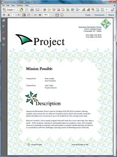 Educational Grant Sample Proposal #2 - The Educational Grant sample proposal is an example of a school seeking funding from an organization for a student educational program. Create your own custom proposal using the full version of this completed sample as a guide with any Proposal Pack. Hundreds of visual designs to pick from or brand with your own logo and colors. Available only from ProposalKit.com (come over, see this sample and Like our Facebook page to get a 20% discount)