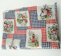 Vintage HOLLY HOBBIE Fabric TWO 36 X 44 Sew 80s Craft DIY American Greetings