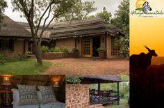 """iKhaya LamaDube, """"das Zuhause des Zebras"""" ist eine charmante Lodge im Herzen des Dinokeng Game Reserve nördlich von Pretoria. Die Lodge verfügt über zwei Blockhütten, ein Safarizelt, Blockhütte, Poolhütte und eine Rondavel. Diese Einheiten können insgesamt 12 Personen aufnehmen. Safari, Game Lodge, Hotels, Pretoria, Zebras, Gazebo, Outdoor Structures, Plants, Outdoor Camping"""
