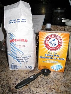 Bye-Bye Blackheads Scrub     1 tbsp granulated sugar  1 tbsp baking soda  2 tbsp water