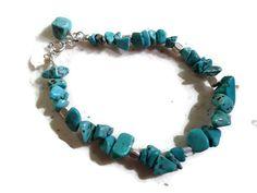 Turquoise Bracelet  Sterling Silver Jewelry  by jewelrybycarmal