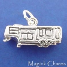Sterling Silver .925 RV 5th Wheel Camper Trailer 3D Charm