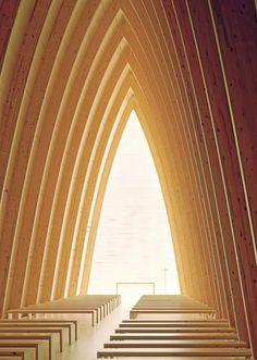 Uusi kirkko on hiljaisuuden tila Religious Architecture, Architecture Design, Plank Walls, Helsinki, Stairs, Contemporary, Tila, Instagram, Home Decor