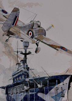 HMS Eagle Greeting Card by Ray Agius