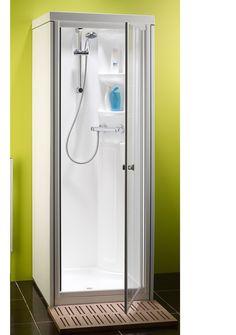 Shower Pods, Shower Tub, Bathroom Design Small, Bathroom Interior Design, Small Bathrooms, Toilet Vanity Unit, One Piece Shower, Tub To Shower Remodel, Shower Cabin