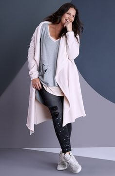 Melissa McCarthy Seven7 Cardigan, Top & Jeans (Plus Size) available at #Nordstrom