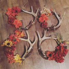 Fall antler wreath!