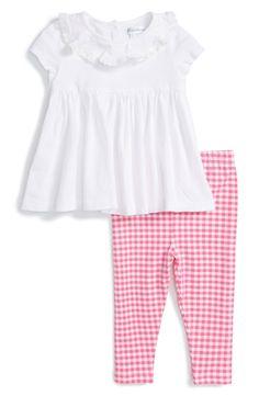 Ralph Lauren Ruffled Top & Leggings Set (Baby Girls)